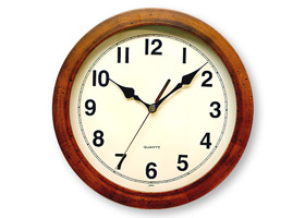 日本製 さんてる アンティーク電波掛け時計 DQL501