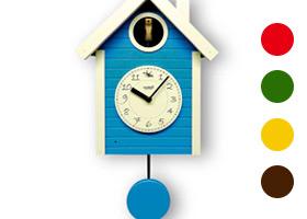 日本製 さんてる 手作り 鳩時計 北欧カラー